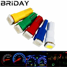 10PCS T5 Car Interior Dashboard Gauge Instrument LED Car White Red Auto Side Wedge warning Light Lamp Bulb DC 12V green blue