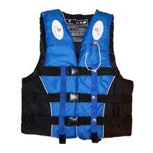 Полиэстер взрослые дети спасательный жилет куртка плавание катание на лодках лыжный Дрифтинг спасательный жилет со свистком M-XXXL размеры водные виды спорта мужская куртка