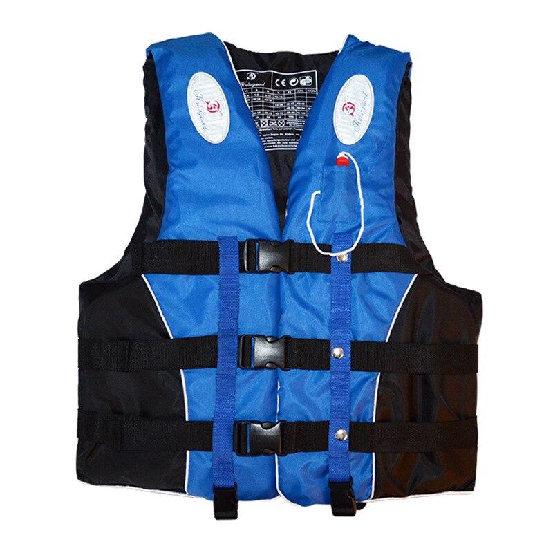Poliéster chaleco salvavidas chaqueta natación náutica Ski Drifting chaleco salvavidas con silbato M-XXXL tamaños Sports hombre mujer chaqueta
