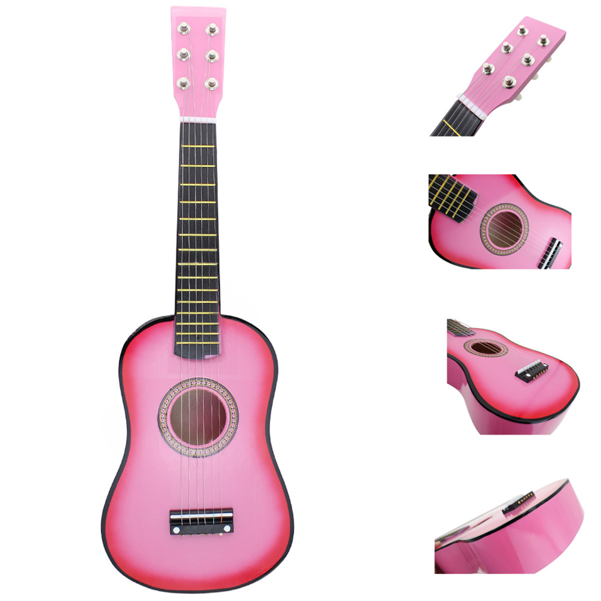 irin mini 23 inch basswood 12 frets 6 string acoustic guitar with pick and strings for kids. Black Bedroom Furniture Sets. Home Design Ideas
