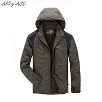 ZA263 Miltary Tactical Jacket Men Casual Spring Autumn Water Proof Jackets For Men Army Jacket Patchwork