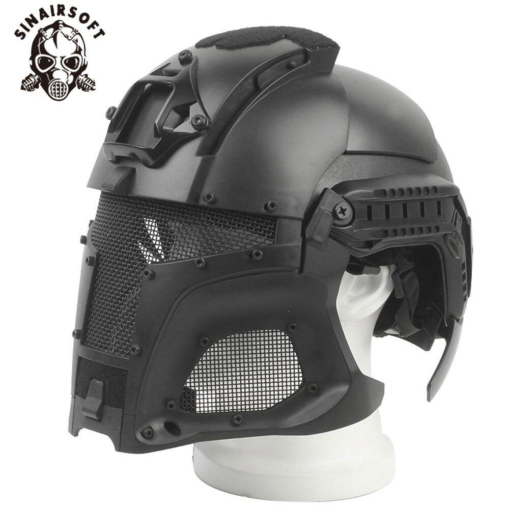 Militaire balistique tactique casque Rail latéral NVG linceul transfert Base cadran bouton Sport armée Combat Airsoft Paintball masque casque