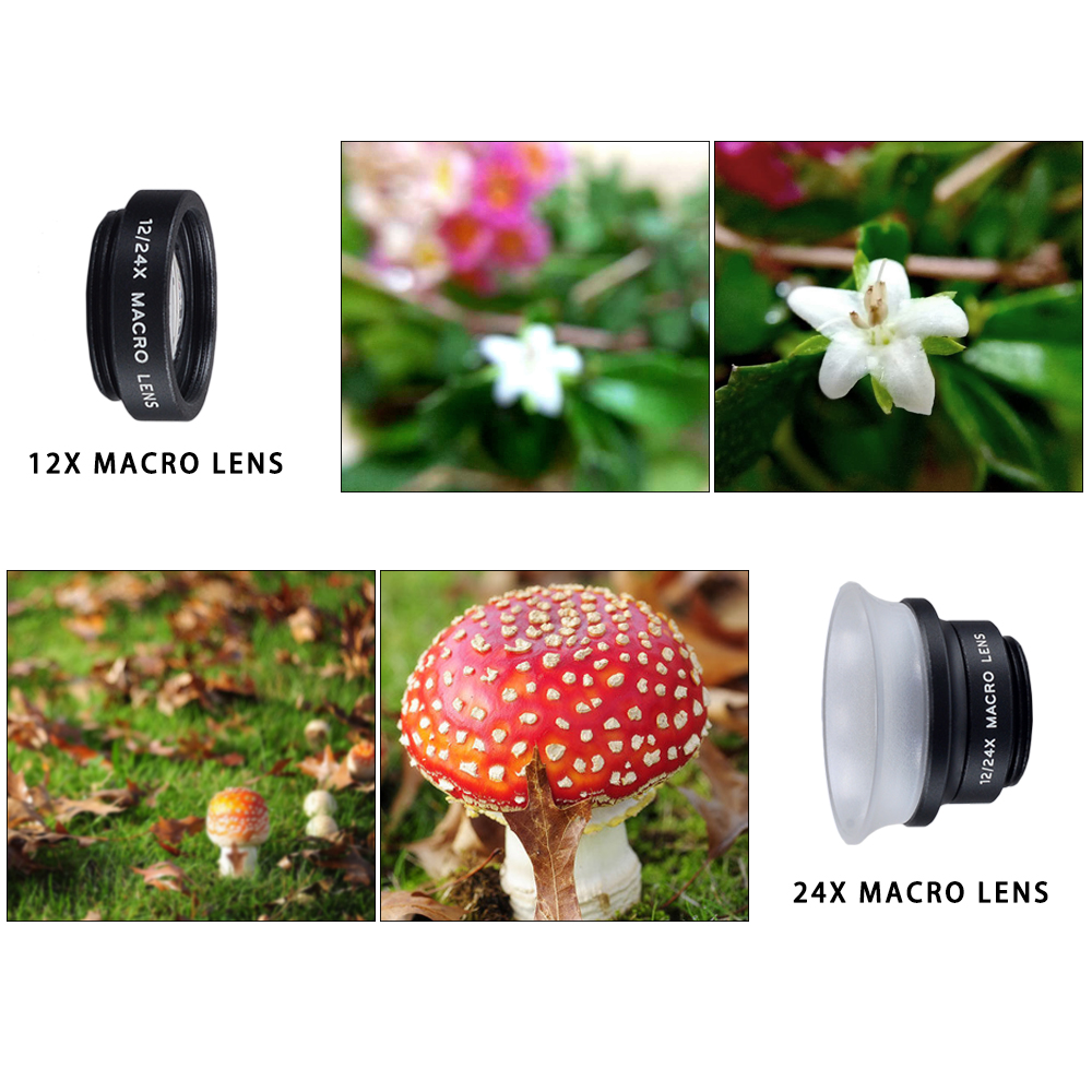 APEXEL Fish Eye+ Wide Angle+Macro+CPL filter camera Lens Kit for iPhone 7/7plus/6S Plus Samsung XiaomiRedMi HTC Phones 5in1 7