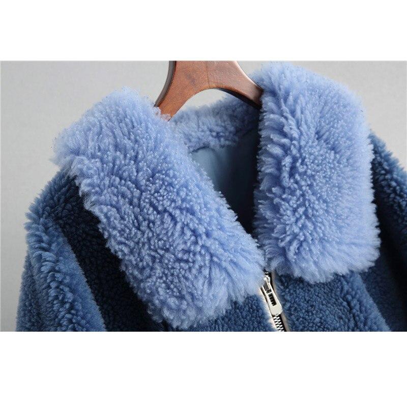 Femmes De Bleu Royal Fourrure 2018 18050 Maylooks Manteau PfEnAwT5Wq
