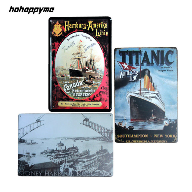 Titanic Vintage Metal Signs Home Decor Cafe Bar Decoration Plaque Pub Decorative  Metal Wall Art Plates