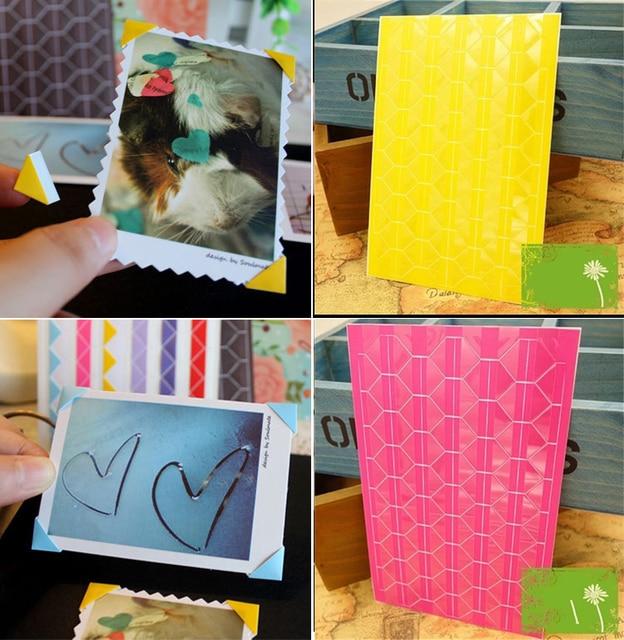 10pcs Diy Wall Photo Corners Album Angle Stick Scrapbook Accessories