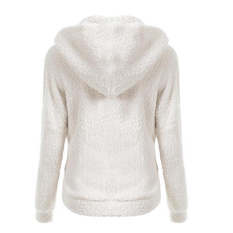 102d1d6d ... Dame teddy jakke høst Warm Jacket Hooded Zipper ...