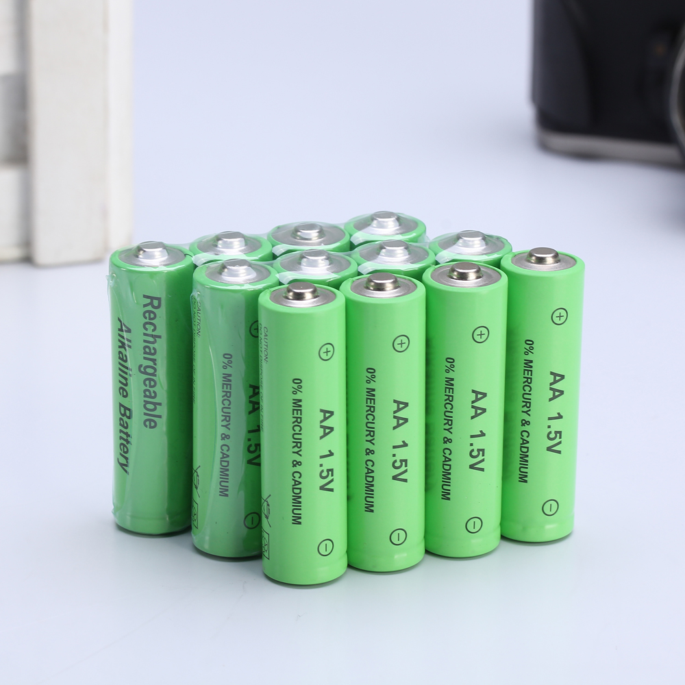 12 pcs aa rechargeable battery 14500 1 5v aa alkaline rechargeable battery batteries for led. Black Bedroom Furniture Sets. Home Design Ideas