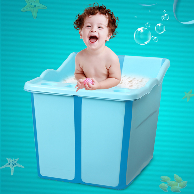Large Size Foldable Babies Bath Tub With a Seat In the Shower Kids ...