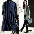 2015 весной новый женский корейский кардиган кашемировые пальто свитер в длинном вязать шерстяное пальто