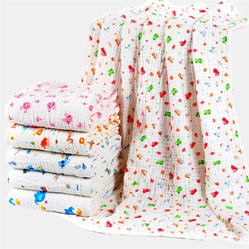 Infant Baby Cotton Bath Towel Wrapping Sleepsack Cartoon Sleeping Blanket 90x90cm Soft Towel