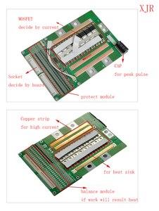 Image 4 - 7 S 120A versiyonu S lityum Polimer lipo BMS/PCM/PCB pil koruma levhası 7 Paketleri 18650 li ion pil hücresİ w/Denge