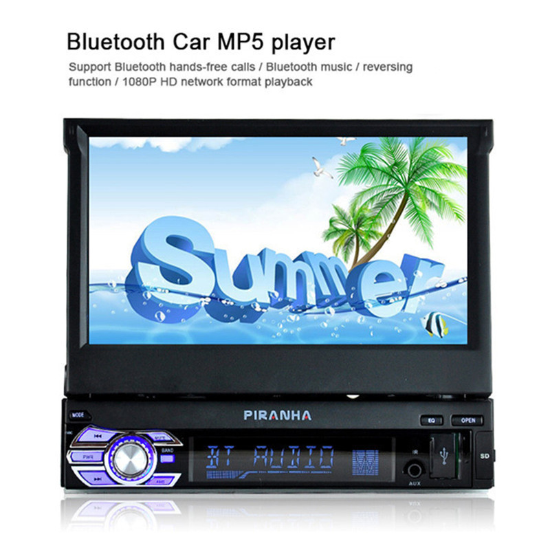 9601 12V Touch Screen Automatic Open Car Stereo Bluetooth FM Radio MP5 Audio Player Phone USB/TF Radio In-Dash fixed front panel 2 din car radio mp5 player universal 7 inch hd bt usb tf fm aux input multimedia radio entertainment with rear view camera