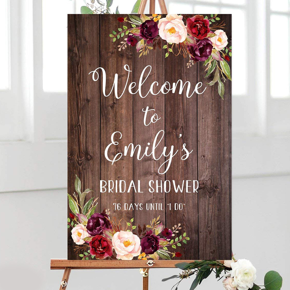 Rustic Welcome Wedding Sign Wood Plaque