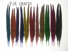 10 pieces of high quality natural pheasant feathers, 29-34cm, DIY handicrafts decorative accessories
