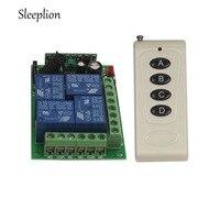 Sleeplion 12 В 4CH реле Беспроводной Дистанционное управление светодиодные лампы коммутатора трансивера 315 мГц 433 мГц