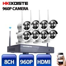 1.3MP CCTV Системы 960 P 8ch HD Беспроводной NVR комплект Открытый ИК Ночное видение IP Wi-Fi Камера безопасности Системы водоустойчивая
