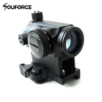 Mini T 1 1X24 Telescopic Sight Illuminated Red Green Dot Sight With Quick Release Red Dot