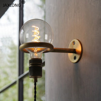 American Retro Industrial Style LED Wall Lamp Bedroom Bedside Wall Sconce Decor Lighting Light Fixture Corridor Aisle Wall Light