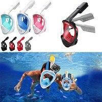 Swimming breathing Diving Masks Full Face Snorkel Mask Scuba Diving Swimming Easy Breath Underwater Anti Fog Dry #2M07