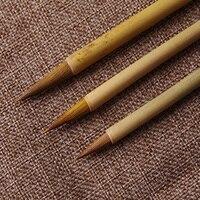 3 Pz Pennelli Set pennelli A Olio Acrilico Pennello Acquerello Penna capelli donnola Calligrafia Cinese Art Alimentazione
