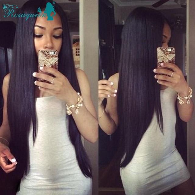 Russian Virgin Hair Straight Unporcessed 100% Human Hair Weave Bundles 4 Pcs/Lot Russian Straight Hair Rosa Queen Hair Products