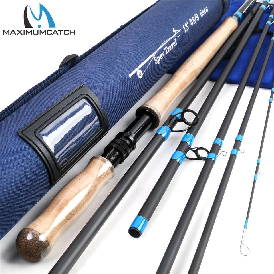 Maximumcatch 6-10 WT 4/6pc Spey Fly Fishing Rod 12'6''/12'9''/13'/14' Medium-Fast Fly Rod With Cordura Tube