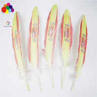 Z & Q & Y new 100 natural 15 20CM/6 8 inch goose feather Spanish flag feather DIY jewelry head buckle decorative feather