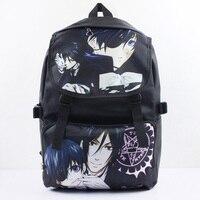 Anime Black Butler Nylon Waterdichte Laptop Rugzak/Dubbele Schouder Tas/Schooltas Gedrukt met Ciel & Sebastian