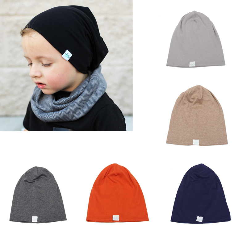 2018 New Spring Children Hat Solid Color Caps for Boys Cotton Warm Children Cap Baby Boys Hats Kids Costume Accessories