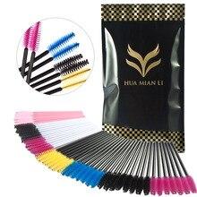100Pcs/lot Disposable Eyelash Brush Mascara Wands Applicator Spoolers Eye Lashes Cosmetic Brushes Set Makeup Tool Multicolor
