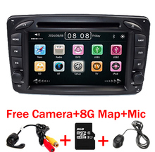 2din 7 pulgadas de COCHES REPRODUCTOR de DVD Para Mercedes Benz W203 W168 W209 M ML W463 W163 W639 Vito Viano Vaneo 3g GPS BT Radio USB SD Mapa Libre