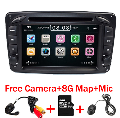 2din 7 inch font b CAR b font DVD PLAYER For Mercedes Benz W209 W203 W168