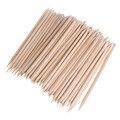 1 pack 80-100 unids nail art orange palo de madera con removedor de cutícula pusher empujador de manicura pedicura cuidado de las uñas de belleza herramientas