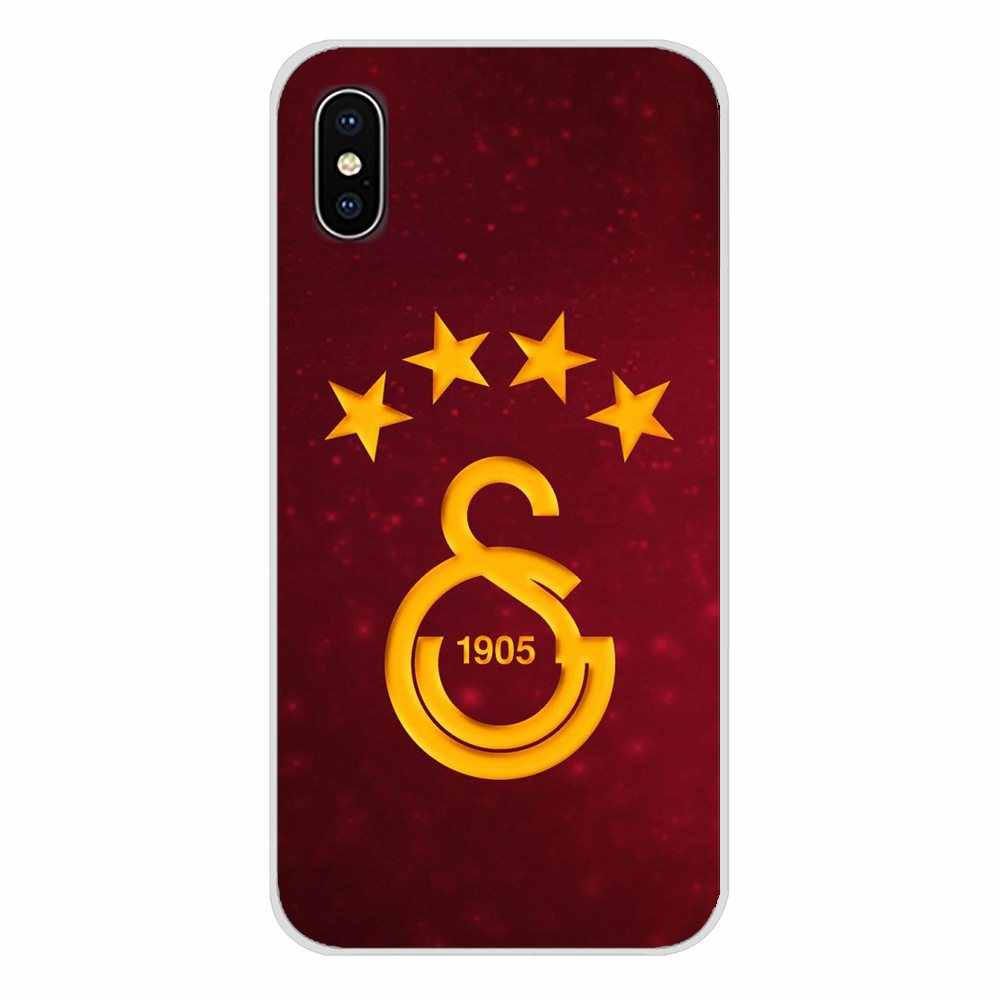 Galatasaray SK logo Accessoires Telefoon Shell Covers Voor Apple iPhone X XR XS MAX 4 4 S 5 5 S 5C SE 6 6 S 7 8 Plus ipod touch 5 6