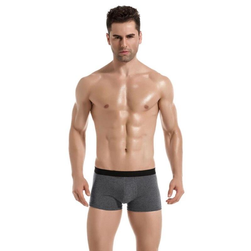 Male Underwear Elastic Wide Belt Men Underpant Solid Breathable Panties Model Boxer Sexy Plus Size 3XL Boxer 2018 New Arrival