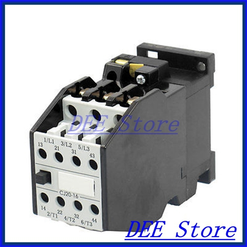 цена на 24V 50Hz Coil 13A 3 Pole 2NO 2NC Standard 35mm Mounting Rail AC Contactor