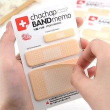 Cute Creative Band Aid Memo Pad Sticky Notes Kawaii Paper Sticker Pads Post It Note DIY Scrapbooking Stationery School Students bp2pcs lot cactus love cute sticky notes kawaii sticky memo pad post it memo pads sticker label stationery gift wj smt103