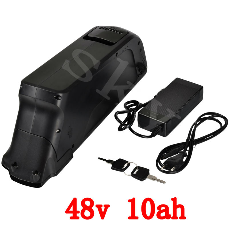 US EU no Tax 48V 10AH 500W ebike Down Tube Lithium Battery 48V 10.4AH Electric Bike battery with 15A BMS and 2A Charger us eu no tax 48v 25ah 2000w lithium battery pack with 5a charger built in 50a bms electric bicycle battery 48v free shipping