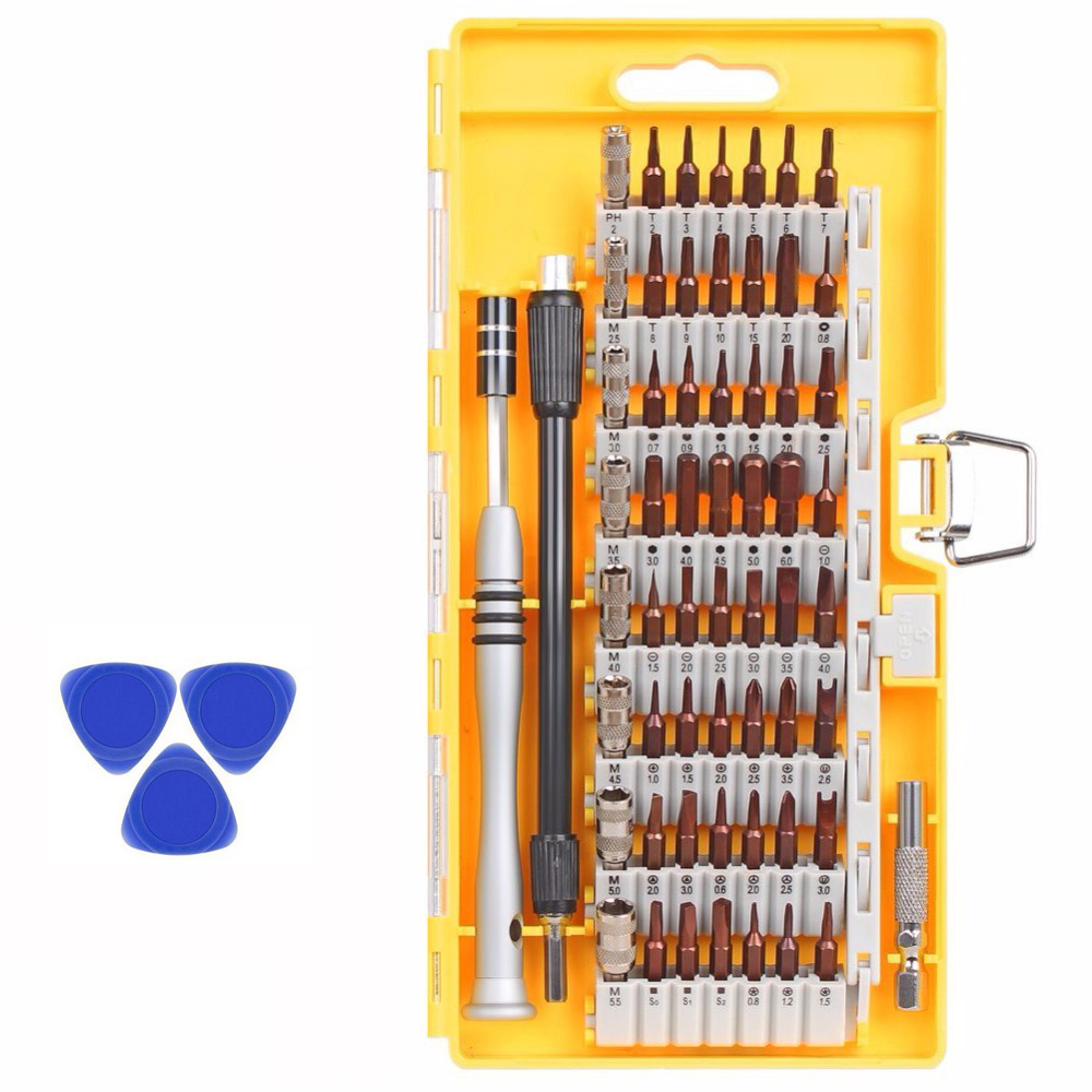 63 in 1 Precision Screwdriver Tool Kit Magnetic Screwdriver Set for iPhone Tablet Macbook Xbox Cellphone PC Sumsung+3pcs opener