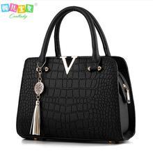 Luxo de couro de Crocodilo mulheres bolsas de marcas Famosas mulheres do desenhador sacos do mensageiro feminino bolsa de ombro franjas saco bolsa das mulheres(China (Mainland))