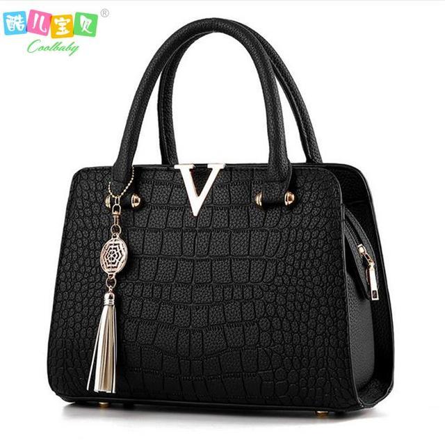 Luxo de couro de Crocodilo mulheres bolsas de marcas Famosas mulheres do desenhador sacos do mensageiro feminino bolsa de ombro franjas saco bolsa das mulheres