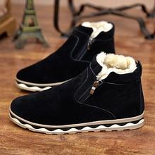 2016 nouvelles bottes de neige d'hiver mâle coton-rembourré chaussures plus de velours chaud hommes bottes de coton non-slip Martin