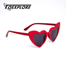 TOEXPLORE Cat Eye Kinder Zonnebril Merk Design Eyewear Jongens Meisjes Zonnebril LOVE Heart Baby New Fashion Hoge kwaliteit UV400