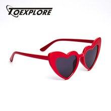 05bcbcaa7 TOEXPLORE القط العين الأطفال النظارات الشمسية العلامة التجارية تصميم نظارات  الفتيان الفتيات نظارات شمسية الحب قلب طفل جديد الأزي.