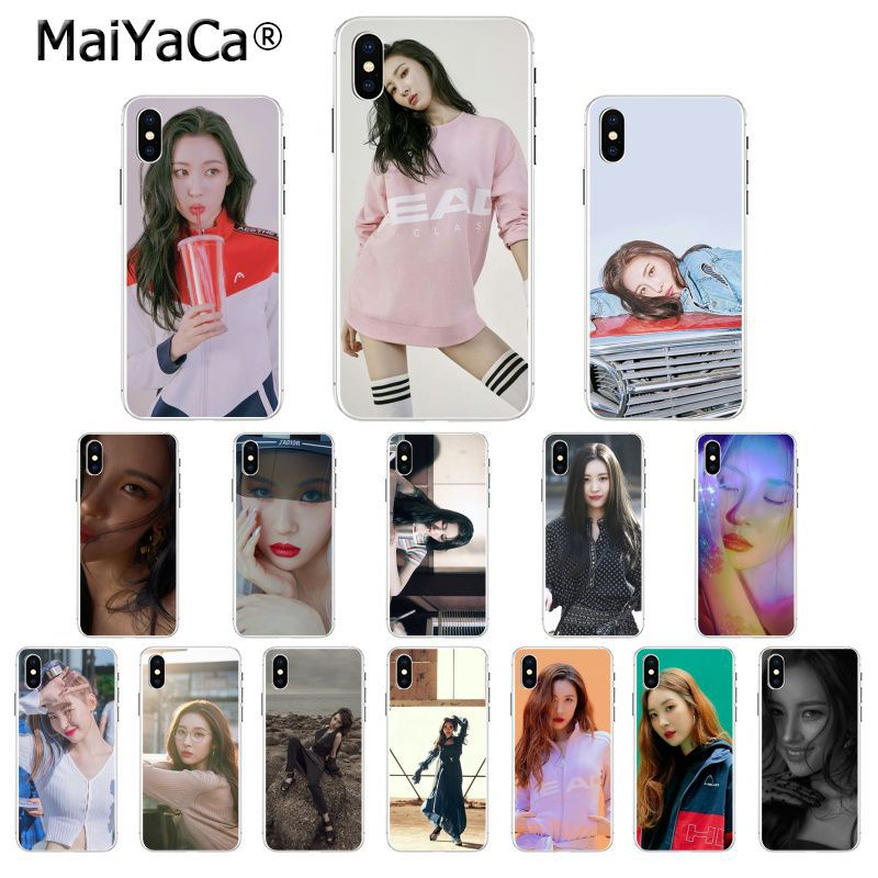 MaiYaCa Sunmi Lee Kpop Girl Custom Photo Soft Phone Case for Apple iPhone 8 7 6 6S Plus X XS MAX 5 5S SE XR Mobile Cover iphone xr case magnetic
