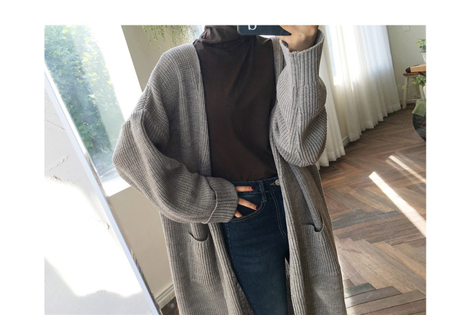 DICLOUD Fashion Long Cardigan Women 19 Fashion Harajuku Loose Knit Sweater Women Casual Black Oversized Jacket Coat Autumn 18