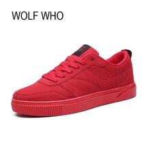 LOBO QUE 2017 Zapatos Para Hombre Macho Moda Transpirable Calzado de Lona Adultos Krasovki Hombres Zapatillas Obuv Barato Código Rojo x222