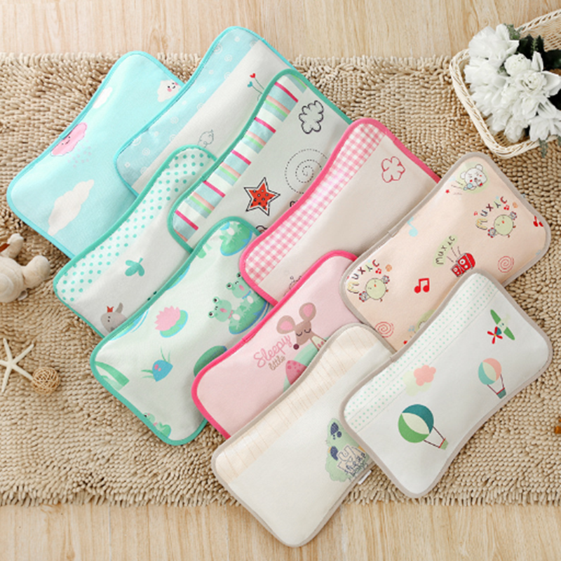 2019 New Infant Baby Crib Pillows Summer Cool Cartoon Ice Cold Pillow Buckwheat Shell Fill Pillows For Newborn Babies