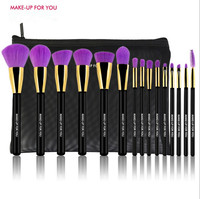 15 Pcs Premiuim Makeup Brush Set High Quality Soft Taklon Hair Professional Makeup Artist Brush Tool